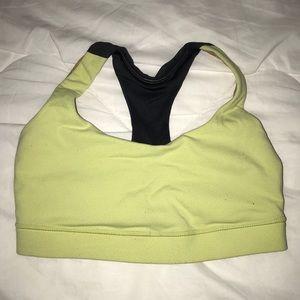Lululemon yellow sports bra